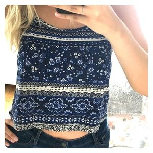 Fun printed crop top!